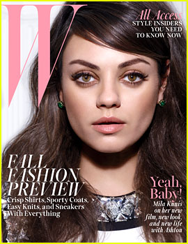 Mila Kunis Talks Ashton Kutcher & Wedding Plans with 'W' Mag