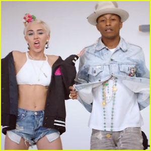 Miley Cyrus Makes Cameo in Pharrell Williams' 'Come Get It Bae' Music Video!
