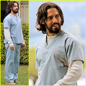 Milo Ventimiglia Looks Happy to Be Starting Work on 'The Whispers'