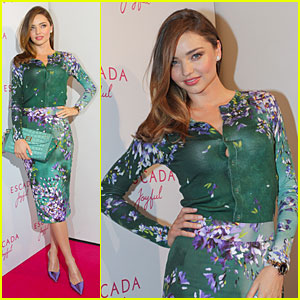 Miranda Kerr Launches Her Escada Joyful Fragrance in Munich!