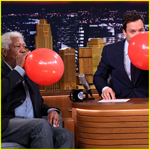 Morgan Freeman Chats on Helium with Jimmy Fallon! (Video)