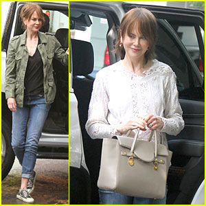 Nicole Kidman Gets to Work on 'Family Fang' in NYC!