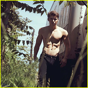 Nolan Gerard Funk Flaunts Sexy Abs for 'L'Uomo Vogue' Feature