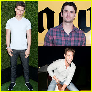Nolan Gerard Funk Takes a Step in Creative Recreation's Shoes at Just Jared's Summer Fiesta!