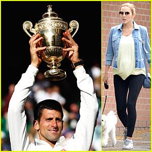 Novak Djokovic Dedicates Wimbledon Win to Fiancee Jelena Ristic & Future Baby!