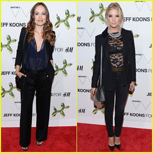 Olivia Wilde & Ashley Benson Rock Sheer Tops for H&M Flagship Fifth Avenue Store Launch!