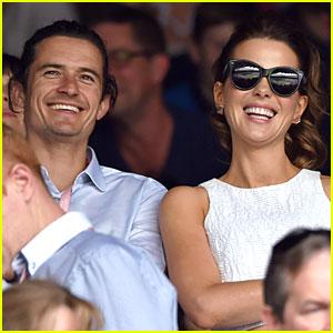 Orlando Bloom & Kate Beckinsale Have a Blast at Wimbledon Men's Final!