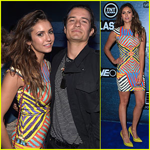 Orlando Bloom & Nina Dobrev Pair Up at Playboy Comic-Con Party