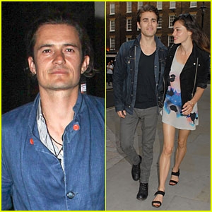 Orlando Bloom & Paul Wesley Are Such Denim Studs at Chiltern Firehouse