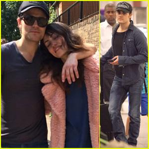 Paul Wesley Lands in Atlanta After Romantic Birthday Trip with Girlfriend Phoebe Tonkin