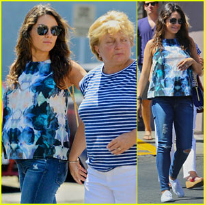 Pregnant Mila Kunis Spends the Day with Her Mom Elvira!