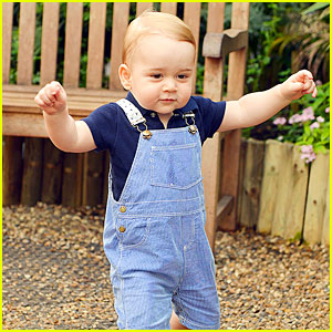 Prince George Is Such a Cute Walking Toddler in First Birthday Official Pic