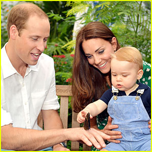Prince George Looks Pretty Adorable Touching a Butterfly!