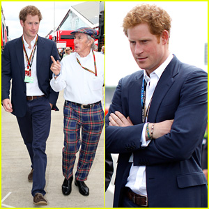 Prince Harry Chats with Sir Jackie Stewart During Eventful Sunday at the One Grand Prix!
