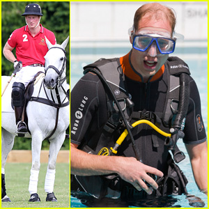 Sporty Royals! Prince Harry Plays Polo While William Snorkels!