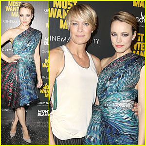 Rachel McAdams & Robin Wright Show Their Different Style at 'A Mosted Wanted Man' Premiere