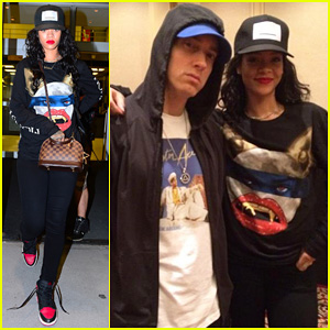 Rihanna Touches Down in NYC After Rehearsing with Eminem for Monster Tour in Detroit!