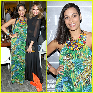Rosario Dawson & Chrissy Teigen Stun at Belgian National Day Celebration