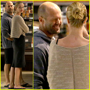 Rosie Huntington-Whiteley Makes Jason Statham Crack Up While Shopping - See the Cute Pics!