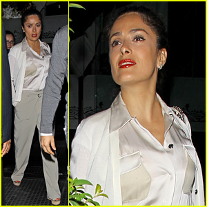 Salma Hayek Has Big Family Dinner at Mr Chow!