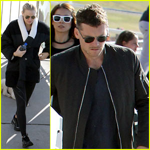 Sam Worthington & Lara Bingle Work on Their Fitness Together