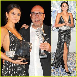 Selena Gomez Meets Italian Singer Tony Renis During Ischia Awards Gala - See The Video!