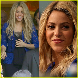 Shakira Makes an Appearance at a Press Conference Before Big World Cup Performance!