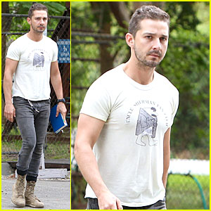 Shia LaBeouf Is a Blue Book Worm in Los Angeles
