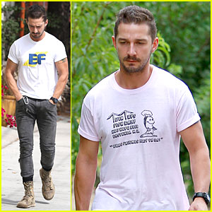 Shia LaBeouf Definitely Has Yummy Food On His Mind