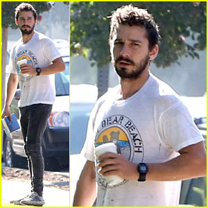 Shia LaBeouf Steps Out for an Early Morning Meeting