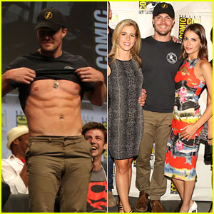 Stephen Amell Gets Shirtless at Comic-Con - Watch it Happen Here!