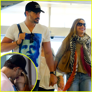 Sofia Vergara & Joe Manganiello Kiss, Engage in PDA at the Airport!
