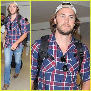Taylor Kitsch Returns Back to Los Angeles After World Cup Festivities in Brazil!