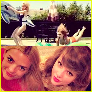 Taylor Swift & Jaime King Play in the Pool & Bake a Cake!