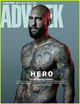 Tim Howard Goes Shirtless & His Torso is Covered in Tattoos