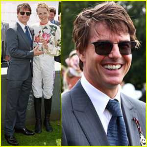 Tom Cruise Wears His Hair Messy for a Day at the Races
