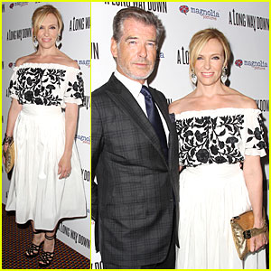 Toni Collette & Pierce Brosnan Have 'A Long Way Down' in NYC!