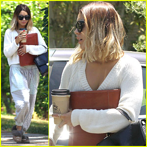 Vanessa Hudgens Wears The Cutest Fuzzy Slippers To Acting Class