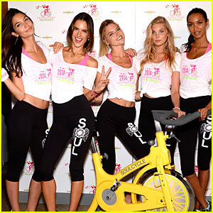 Victoria's Secret Angels Go Cycling for Pelotonia in New York