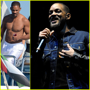 Will Smith Introduces Calvin Harris at T in the Park Music Festival After Boating Shirtless in Spain