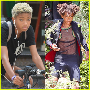 Willow Smith Wheels Around Town While Jaden Does a Photoshoot!