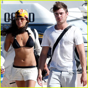 Zac Efron & Michelle Rodriguez Spotted Kissing in Sardinia!