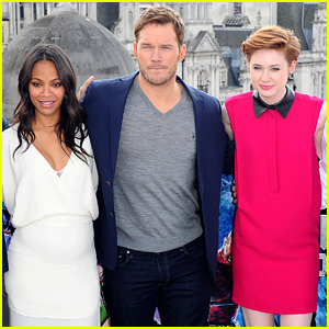 Zoe Saldana Puts Her Baby Bump on Display at 'Guardians of the Galaxy' Photo Call