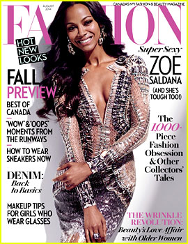 Zoe Saldana Talks Hubby Marco Perego with 'Fashion' Mag!