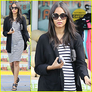Zoe Saldana Stocks Up On Groceries After Being Away in Singapore