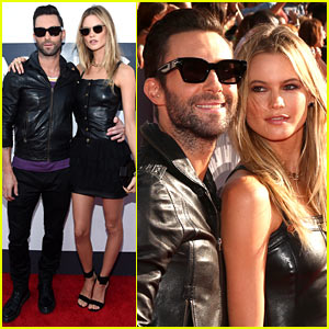Adam Levine Takes Wife Behati Prinsloo to the MTV VMAs 2014