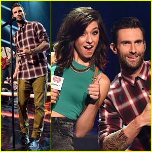 Adam Levine Celebrates Maroon 5's New Album 'V' at iHeartRadio Theater