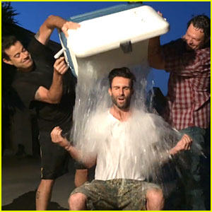 Adam Levine Completes Ice Bucket With 'Voice' Judge Blake Shelton & Host Carson Daly - Watch Now!
