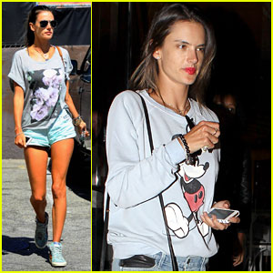 Alessandra Ambrosio Shows Off Her Long Legs While Grocery Shopping!