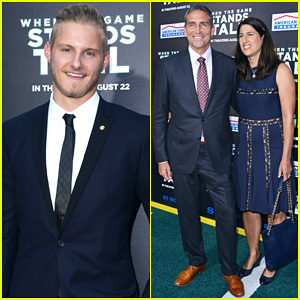 Alexander Ludwig Suits Up for 'When The Game Stands Tall' Hollywood Premiere!